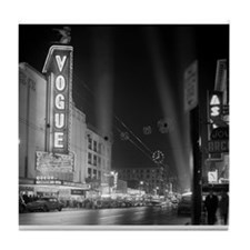 Vogue Theatre at night Tile Coaster