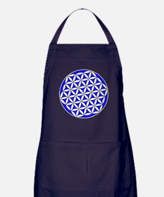 Flower of Life Blue Apron (dark)