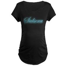 salsera in blue Maternity T-Shirt