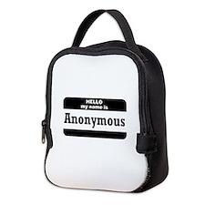Hello My Name Is Neoprene Lunch Bag