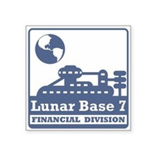 "Lunar Financial Division Square Sticker 3"" x 3"""