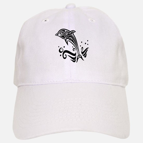Tribal Tattoo Dolphin Baseball Baseball Cap