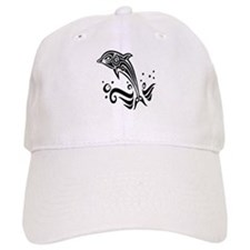 Tribal Tattoo Dolphin Baseball Cap