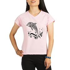 Tribal Tattoo Dolphin Performance Dry T-Shirt
