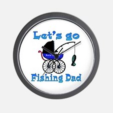 Lets go fishing buggy Wall Clock