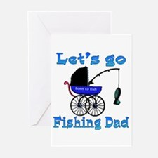 Lets go fishing buggy Greeting Cards (Pk of 10