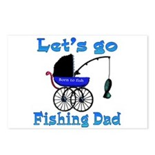 Lets go fishing buggy Postcards (Package of 8)