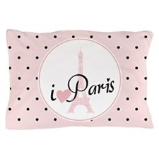 I Love Paris Pillow Case