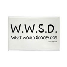 What would Scooby do? Rectangle Magnet
