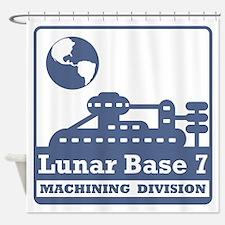 Lunar Machining Division Shower Curtain