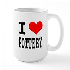 I Heart (Love) Pottery Mug