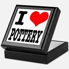 I Heart (Love) Pottery Keepsake Box