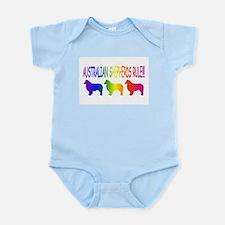 Australian Shepherd Dog Infant Bodysuit