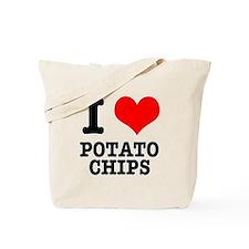 I Heart (Love) Potato Chips Tote Bag