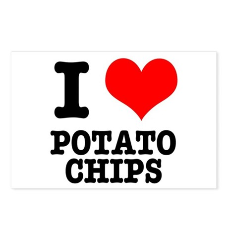I Heart (Love) Potato Chips Postcards (Package of