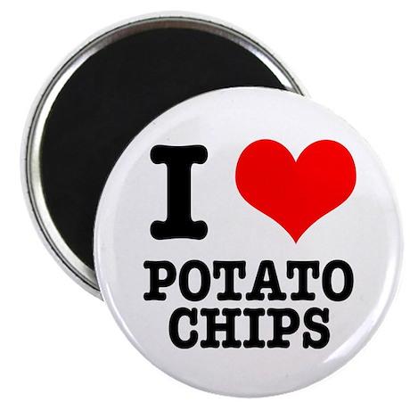 I Heart (Love) Potato Chips Magnet