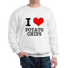I Heart (Love) Potato Chips Sweatshirt