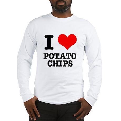 I Heart (Love) Potato Chips Long Sleeve T-Shirt