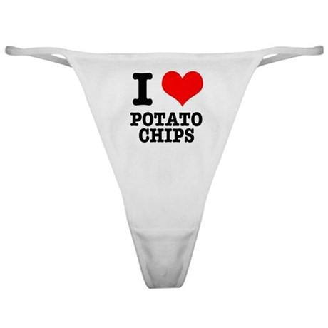 I Heart (Love) Potato Chips Classic Thong