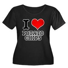 I Heart (Love) Potato Chips T
