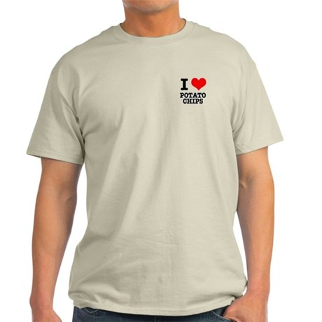I Heart (Love) Potato Chips Light T-Shirt