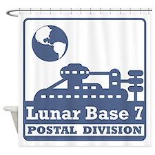 Lunar Postal Division Shower Curtain