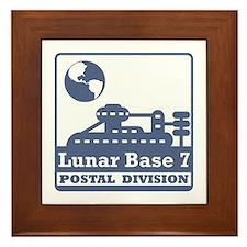 Lunar Postal Division Framed Tile