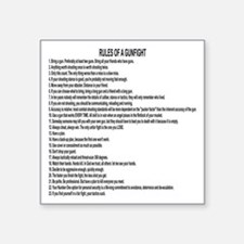 "23 Rules Of A Gun Fight Square Sticker 3"" x 3"""
