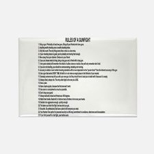 23 Rules Of A Gun Fight Rectangle Magnet