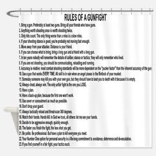 23 Rules Of A Gun Fight Shower Curtain