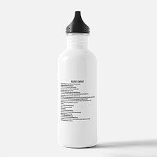 23 Rules Of A Gun Fight Water Bottle