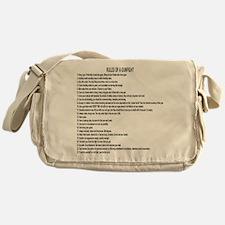 23 Rules Of A Gun Fight Messenger Bag