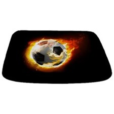 Soccer Fire Ball Bathmat