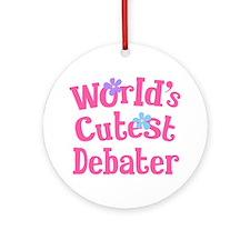 Worlds Cutest Debater Ornament (Round)