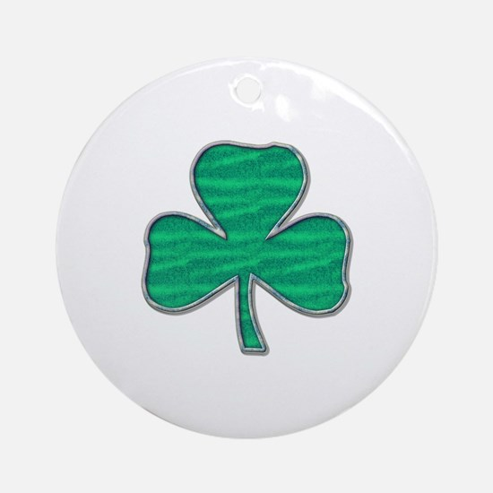 Irish Shamrock Ornament (Round)