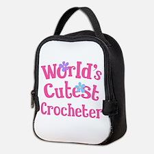 Worlds Cutest Crocheter Neoprene Lunch Bag