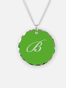'B' Initials & Monogram Necklace