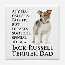 Jack Russell Dad Tile Coaster