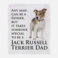 Jack Russell Dad Throw Blanket