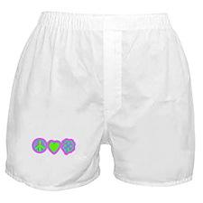 Irish Peace Love Lucky Shamrock Boxer Shorts