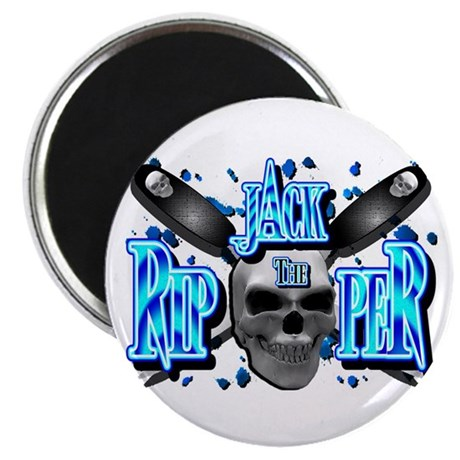 Jack the Ripper Aqua Blue Magnet