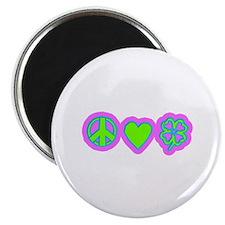 Irish Peace Love Lucky Shamrock Magnet