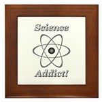 Science Addict Framed Tile