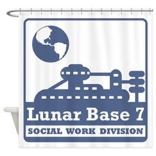 Lunar Social Work Division Shower Curtain