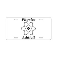 Physics Addict Aluminum License Plate