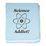 Science Addict baby blanket