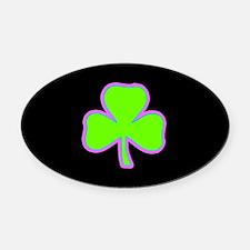 Irish Lucky Shamrock Oval Car Magnet