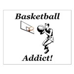 Basketball Addict Small Poster