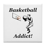 Basketball Addict Tile Coaster