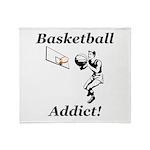 Basketball Addict Throw Blanket